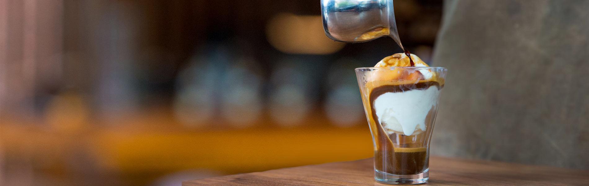 Starbucks Affogato - coffee poured over ice cream